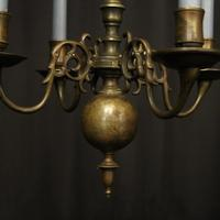 English Pair of Bronze Antique Chandeliers (10 of 10)