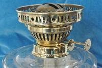 Original Victorian Cut Glass & Brass Oil Lamp - c.1900 Working Order (6 of 7)