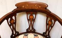 Mahogany Art Nouveau Corner Chair (4 of 10)