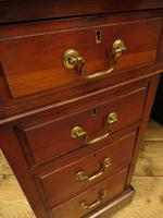 Handsome Antique Pedestal Desk with New Black Leather to Top (17 of 21)
