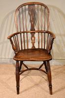 Mid 19th Century Ash & Elm High Back Windsor Armchair (7 of 7)