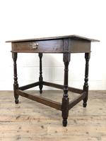 Early 18th Century Joined Oak Side Table (7 of 8)