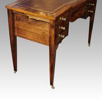 Edwardian Inlaid Rosewood Writing Table (10 of 12)