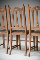 Arts & Crafts Oak Dining Chairs (10 of 12)