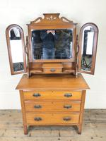 Antique Satin Walnut Dressing Table with Mirrors (2 of 10)