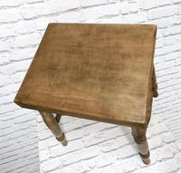 19th Century Kitchen Stool with Sycamore Seat (4 of 5)