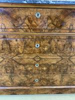 19th Century French Burr Walnut Commode with Marble Top (9 of 9)