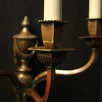 English Pair of Bronze Antique Wall Lights (6 of 10)