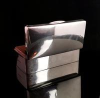 Antique Silver Cigarette Box, Heavy, Edwardian (7 of 13)