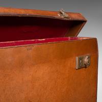 Antique Folio Case, English, Leather, Record Producer's Attache Briefcase, 1920 (11 of 12)