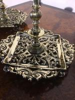 Pair Victorian Brass Candlesticks Townsend (5 of 5)