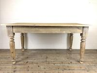 Antique Pine Farmhouse Style Kitchen Table (10 of 13)