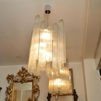 Pair of Large Vintage 1960's Glass Chandeliers by Doria Leuchten (5 of 11)