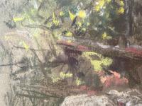 "Edwardian Pastel Painting ""The Sheepfold"" By John Robert Keitley Duff RI RA Rse (29 of 34)"