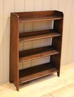 Small Graduated Open Oak Bookcase (6 of 10)