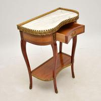 Antique French Marble Top Kidney Side Table (6 of 11)