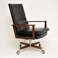 Danish Rosewood & Leather Desk Chair by Arne Vodder (8 of 13)