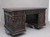 19th Century Chinese Hongmu Pedestal Desk (4 of 19)