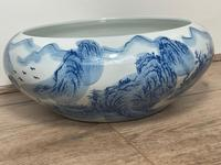 Interesting Chinese Meiping Qianlong Style Round Blue White Porcelain Bowl (3 of 26)