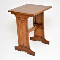 Antique Arts &  Crafts Elm  Writing Table (3 of 8)