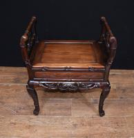 Antique Chinese Stool Hand Carved Piano Circa 1880 (9 of 10)
