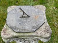 "Roman Style Stone Garden Bronze Floral Sundial ""Sunny Hour"" (9 of 30)"