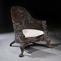 Exceptional 19th Century Anglo Indian Carved Teak Armchair (5 of 9)
