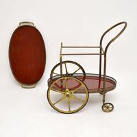 1960's Vintage French Brass Drinks Trolley (5 of 13)