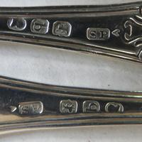 Fabulous Pair of George III Silver King's Pattern Salt Spoons (4 of 6)