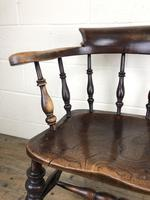19th Century Ash and Elm Smoker's Bow Chair (M-1704) (3 of 15)