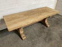 Rustic Bleached Oak Farmhouse Refectory  Table (9 of 21)