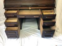 Original Edwardian Globe Wernicke Oak Roll Top Desk (8 of 13)