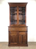 Antique 19th Century Two Stage Mahogany Bookcase