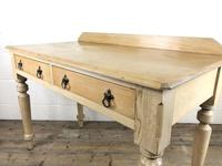 Victorian Antique Pine Two Drawer Side Table (13 of 13)