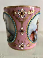 French Sevres Porcelain Cup Portraits of Louis XV & Mistresses, Circa 1760 (3 of 8)
