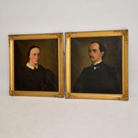 Pair of Antique Portrait Oil Paintings (2 of 12)