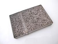 Fine Continental silver filigree card case c 1890 (11 of 12)