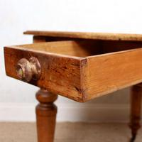 19th Century Pine Dining Table Fitted Drawer (4 of 11)