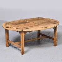 Antique Mahogany Oval Coffee Table (2 of 9)