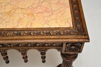 Antique Carved Marble Top Coffee Table (8 of 14)