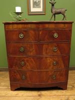 Antique Bow Front Mahogany Chest of Drawers, Country House Chest (9 of 16)