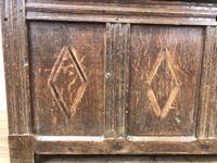 Antique Oak Panelled Coffer (5 of 8)