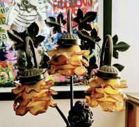 Antique Art Nouveau Bronzed Lamp (6 of 7)