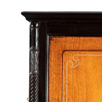 Anglo-Chinese Camphor & Ebony Campaign Secretaire Bookcase (7 of 15)