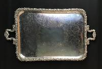 Large Silver Plated Butlers Tray (2 of 4)