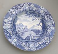 Brameld - Yorkshire Blue & White Pottery Transferware Soup Plate c.1825 (2 of 6)