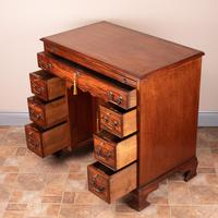 Mahogany Kneehole Desk With Brushing Slide (14 of 17)