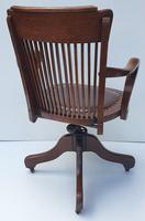 Large Size Early 20th Century Solid Oak Office Chair (2 of 6)