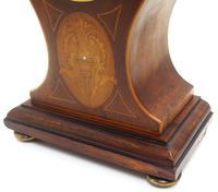 Super Art Nouveau Mantle Clock Tulip Floral Inlay 8 Day Mantle Clock (7 of 15)