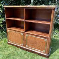 French Plum Pudding Mahogany Bookcase (6 of 8)